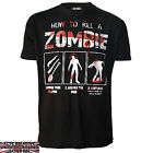 DARKSIDE CLOTHING HOW TO KILL A ZOMBIE T-SHIRT WEAPON KILL BRAINS BLOOD SPLAT