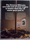 1986 Magazine Advertisement Page For Amoco Ultimate Oil Nice Sign Vintage Ad
