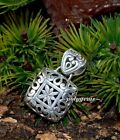OPEN WORK SCROLL WORK SOLIDSILVER 925 SILVER SQUARE PENDANT 30MM