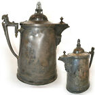 BARTON SILVER Plate Etched SILVERPLATE Ice Water PITCHER