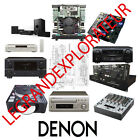 Ultimate   DENON   Repair  &  Service Manuals           (PDFs manual s on DVD)