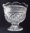 VINTAGE ANCHOR HOCKING WEXFORD LARGE GLASS FOOTED CENTERPIECE BOWL-7
