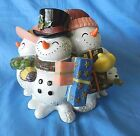 FITZ & FLOYD FROSTY FOLKS SNOWMAN WE WISH YOU A MERRY CHRISTMAS MUSIC BOX