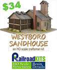 Westboro Sandhouse by Railroad Kits - HO Scale Craftsman Structure - BEST VALUE!