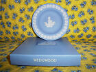 RARE Retired Pale Blue Wedgwood Jasperware 1997 Christmas Candle Plate - MIB