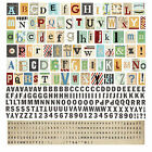 BasicGrey CLIPPINGS Alphabet Stickers scrapbooking Numbers Punctuation