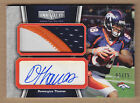 10 2010 Topps Unrivaled JUMBO Demaryius Thomas 3C JSY Patch Auto RC #'d 15