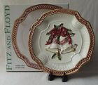 FITZ & FLOYD 2003 COLLECTORS SERIES 'HOLIDAY BELLS' CANAPE PLATE 9