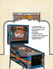 LASER CUE Original Pinball Promo FLYER WILLIAMS 1984 Brochure Ad Slick