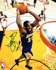 RONNY TURIAF  signed LOS ANGELES LAKERS 8X10 PHOTO COA