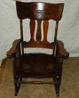Quartersawn Oak Carved Rocker / Rocking Chair  (R94)