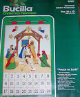 Bucilla PEACE ON EARTH Nativity Felt Christmas Manger Advent Calendar Kit 82017