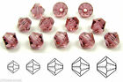 Czech MC Glass Bicone Beads Rondell Diamond French Rose vintage color crystals