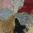 2 Pieces Sequined and Fringe Beaded Appliqu Great for Costumes High Quality