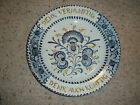 "Antique Georg Schmider Zell Plate German Hanging Platter 11 ½"" Blue 1898-1928"