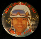 HORSE RACING PIN Angel Cordero Jr Day Jockey Vintage Round Photo Photograph