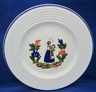 Salad Buffet Display Plate Varages France VAA7 Britanny Lady Ethnic Costume