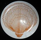 FITZ & FLOYD SHELL COQUILLE DINNER SNACK PLATE  CORAL 9 1/4