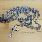Beautiful Blue Round Glass Beads Rosary 20