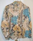 Chico's Chico Ethnic Faux Suede Shirt Jacket - 0