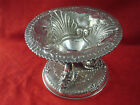 EXQUISITE PEWTER OR SILVERPLATE CENTERPIECE BOWL WITH FISH DESIGN