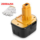 12V 2000mAh Power Tool BATTERY FOR DEWALT DC9071 DW9071 DW9072  2802K Ni-cd New