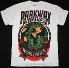 PARKWAY DRIVE WORLWIDE METALCORE AUGUST BURNS RED EMMURE NEW WHITE T SHIRT