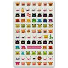 CUTE COLORFUL PIG GEL STICKERS Animal Face Epoxy Sticker Sheet Craft Scrapbook