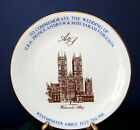 1986 Prince Andrew Sarah Ferguson China Wedding Plate Westminster Abbey Gold Rim
