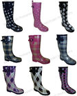 New Womens Colors Flat Festival Mid Calf Rubber Snow  Rain Boots Styles Sizes