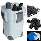 NEW 75 Gallon 9w UV CANISTER FILTER 264 GPH Fresh Salt Aquarium 402B with MEDIA