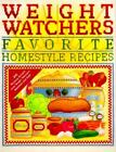 Weight Watchers Favorite Homestyle Recipes COOKBOOK Softcover