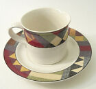 Studio Nova Palm Desert Cup Saucer Set Breakfast Southwest Brown Green Red