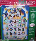 Dimensions Manger NATIVITY Felt Christmas Advent Calendar Kit MINT Children