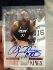 2012-13 ELITE SERIES ALONZO MOURNING ON CARD AUTO COURT KINGS CANVAS PANINI 99