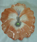 Fitz Floyd FLORAL Salad Plate April Flowers Pansies ORANGE Pansy 7