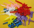 LOT OF 1,2,6 PACK--24 COUNT GIRL BUTTERFLY HAIR BARRETTE PONYTAIL HOLDER-HB621SK