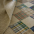 BEAUTIFUL BLUE TAN BROWN GREEN RED BEIGE BEDSPREAD COZY CABIN PLAID COTTON QUILT