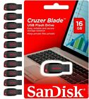 Sandisk 16GB Cruzer Blade USB 20 Flash Drive Memory Stick Wholesale lot of 10