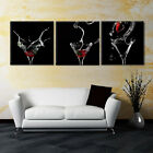 GLASS ART SPLASH ready to hang 3 panel improved canvas wall art mounted on MDF