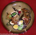 Hand Painted Collector Dinner Plate Wales of Japan Vintage Abstract Art Decor