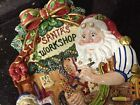 Fitz And Floyd Santas Magic Workshop Canape Plate In Box