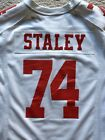 SF 49ers Nike Authentic Jersey, Joe Staley #74, Size Large, USED