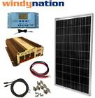 COMPLETE KIT 100 W Watt 100W Solar Panel + 1500W Inverter 12V RV Boat Off Grid