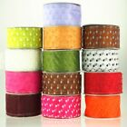 Sheer Organza Polka Dots Wire Edge Ribbon, 2-inch, 50-yard
