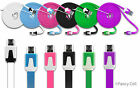 6ft Heavy Duty Data Sync Charging Flat Tangle Free Cable Cord Micro USB