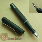 JINHAO EXECUTIVE FROSTED BLACK AND SILVER ITALIC FINE NIB FOUNTAIN PEN