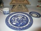 2 SETS - BLUE WILLOW CHURCHILL 3-PIECE DINNER PLATE CUP & SAUCER-NEW IN BOX