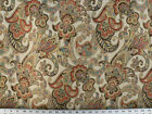 Drapery Upholstery Fabric Woven Jacquard Paisley Floral Jeweltones Ivory