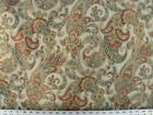 Drapery Upholstery Fabric Woven Jacquard Paisley Floral Gold Beige
